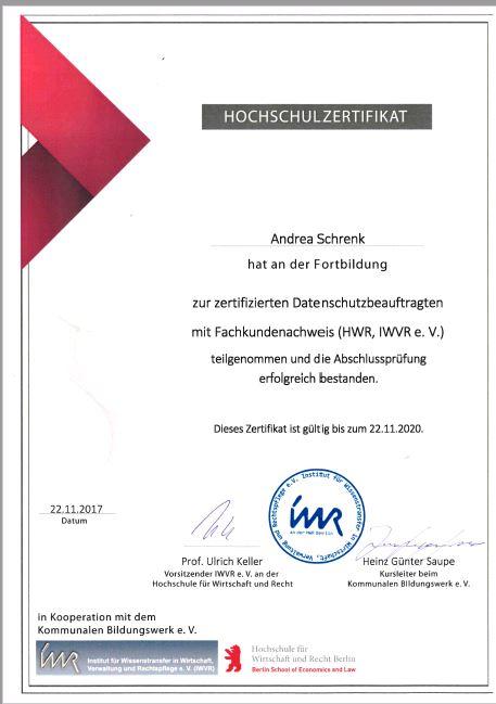Zertifikat AS